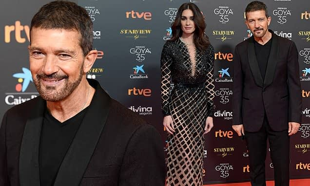Antonio Banderas, 60, and glamorous Paz Vega, 45, lead the stars at the 2021 Goya Awards in Spain - Daily Mail