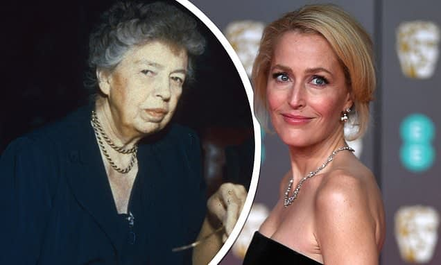 Gillian Anderson set to star as Eleanor Roosevelt in new Showtime series The First Lady - Daily Mail