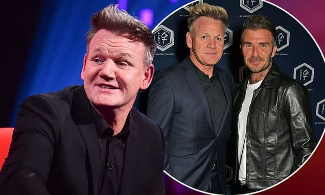 Gordon Ramsay reveals knee surgery and has arthritis... as gushes over David Beckhams baking skills - Daily Mail