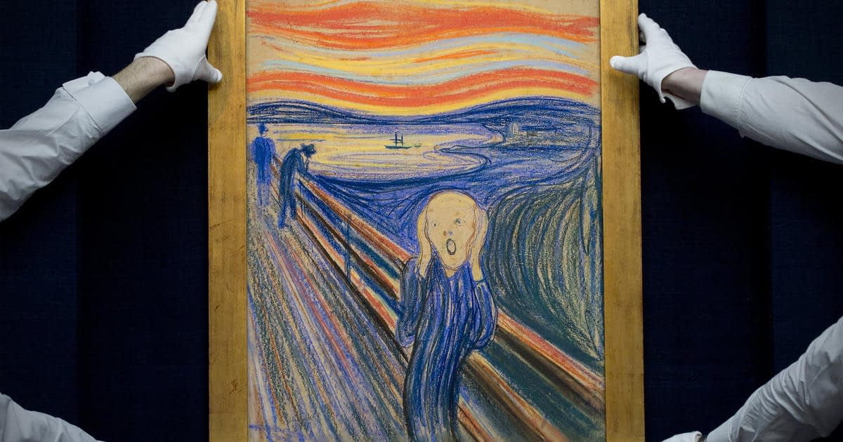 "Mysterious message on ""The Scream"" was written by Edvard Munch himself, experts reveal - CBS News"